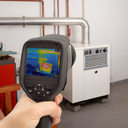Service Check of Gas Furnace with Thermal Camera